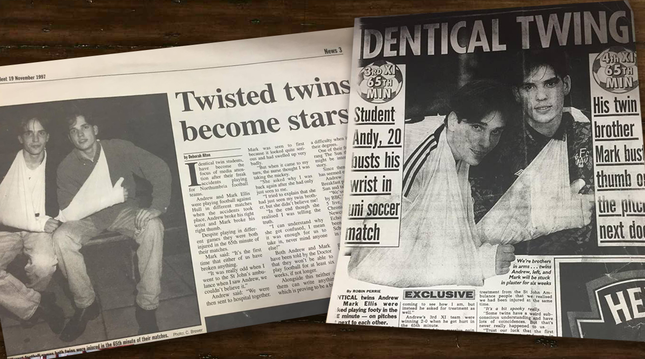 The twins in tabloid heaven